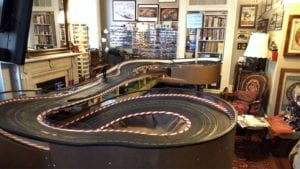 Gran Prix slot track in jim's home.