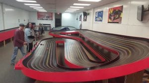 Professional 8 lane slot car racetrack at Clinton, AR