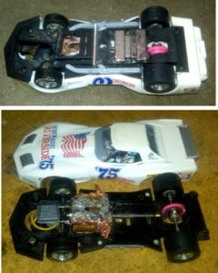 Weight and motor up front, magnets in back, Cl;ays Corvette wi the fuzzy heat sink motored to 4th place