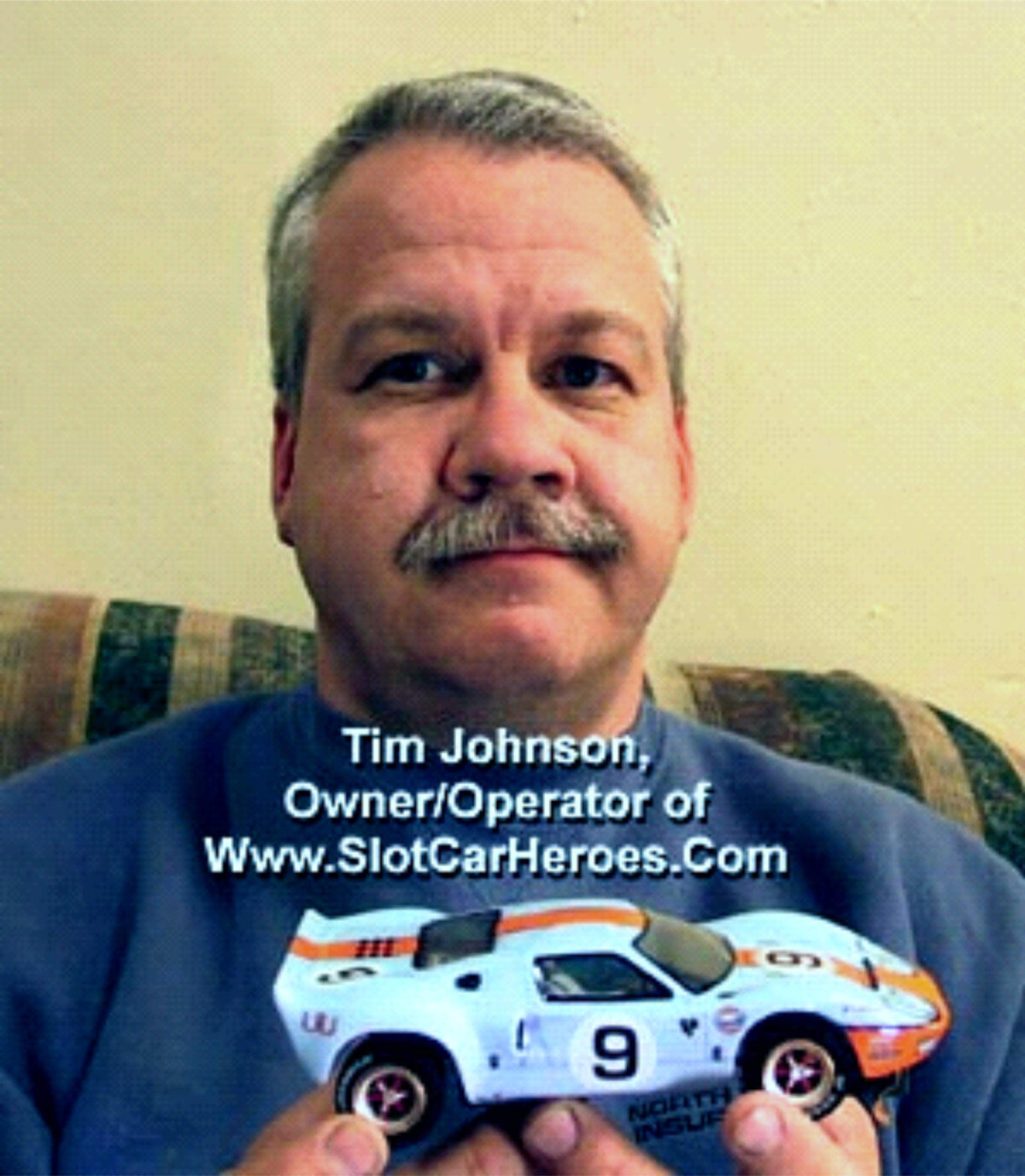 Tim Johnson who had a true passion for slot cars with our Ford GT Slot Car.
