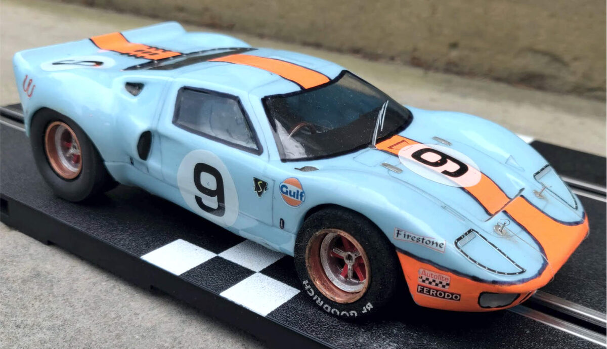 Ford GT40 handmade by a man with a passion for slot cars