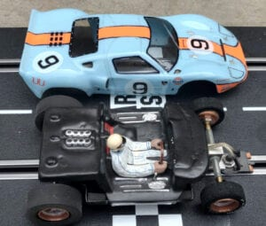 Body removed form Slot Car Heroes GT40